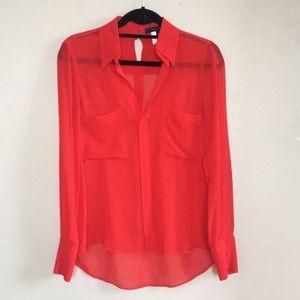 BCBG MAX AZRIA 100% silk blouse